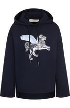 Golden Goose Deluxe Brand | Хлопковый пуловер с капюшоном и декоративной отделкой Golden Goose Deluxe Brand | Clouty