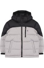 POLO RALPH LAUREN | Стеганая куртка на молнии с капюшоном Polo Ralph Lauren | Clouty