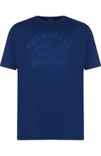 Paul & Shark | Хлопковая футболка с принтом Paul&Shark | Clouty