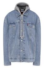 VETEMENTS | Джинсовая куртка свободного кроя с потертостями Vetements | Clouty