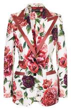 Dolce & Gabbana | Приталенный жакет с контрастной отделкой и принтом Dolce & Gabbana | Clouty