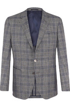 BOSS | Однобортный шерстяной пиджак BOSS | Clouty