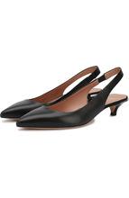BOSS | Кожаные туфли на каблуке kitten heel BOSS | Clouty