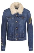 VALENTINO RED | Джинсовая куртка с декоративной отделкой REDVALENTINO | Clouty