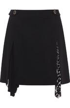 GIVENCHY | Шерстяная мини-юбка с плиссированной вставкой Givenchy | Clouty