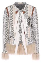 Altuzarra | Жакет с накладным карманом и меховой отделкой Altuzarra | Clouty