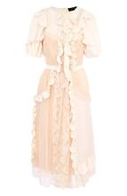 SIMONE ROCHA   Платье-миди с оборками и кружевной отделкой Simone Rocha   Clouty