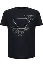 Emporio Armani | Хлопковая футболка с принтом Emporio Armani | Clouty