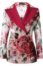 Dolce & Gabbana   Двубортный шелковый жакет с принтом Dolce & Gabbana   Clouty