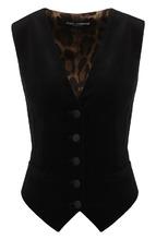 Dolce & Gabbana | Хлопковый жилет с V-образным вырезом Dolce & Gabbana | Clouty