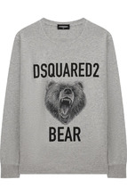 DSQUARED2 | Хлопковый лонгслив с принтом Dsquared2 | Clouty