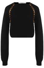 GIVENCHY | Шерстяной пуловер с декоративной вставкой Givenchy | Clouty