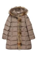 Il Gufo | Стеганое пальто с меховой отделкой и капюшоном Il Gufo | Clouty