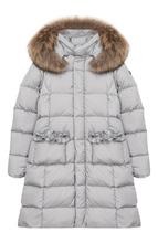 Il Gufo | Утепленное пальто с меховой отделкой на капюшоне Il Gufo | Clouty
