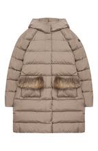 Il Gufo | Стеганое пальто с капюшоном и меховой отделкой Il Gufo | Clouty