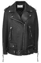 Acne Studios   Кожаная куртка с поясом и косой молнией Acne Studios   Clouty