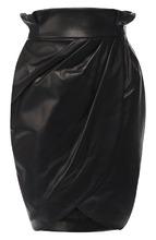 Versace | Кожаная мини-юбка с завышенной талией Versace | Clouty