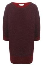 BOSS | Шерстяной пуловер с укороченным рукавом и металлизированной нитью BOSS | Clouty