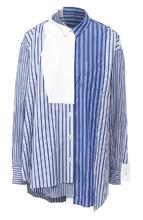 Sacai   Хлопковая блуза асимметричного кроя Sacai   Clouty