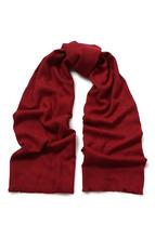 BOSS | Хлопковый шарф с бахромой BOSS | Clouty