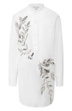 Oscar De La Renta | Хлопковая блуза с декоративной отделкой Oscar de la Renta | Clouty