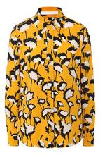 BOSS | Блуза с принтом и отложным воротником BOSS | Clouty