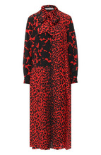 GIVENCHY | Шелковое платье-миди с принтом Givenchy | Clouty