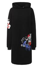 GIVENCHY | Хлопковое платье с капюшоном и принтом Givenchy | Clouty