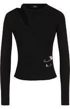 Versus | Вязаный пуловер с декоративным разрезом Versus Versace | Clouty