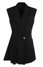 Versace | Приталенный шерстяной жилет на одной пуговице Versace | Clouty