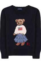 POLO RALPH LAUREN | Хлопковый пуловер с вышивкой Polo Ralph Lauren | Clouty