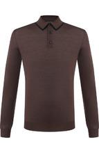 Ermenegildo Zegna | Поло с длинными рукавами из смеси шерсти и шелка Ermenegildo Zegna | Clouty
