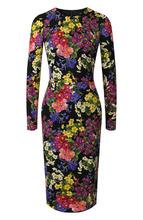 Dolce & Gabbana   Приталенное шелковое платье с принтом Dolce & Gabbana   Clouty