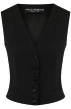Dolce & Gabbana | Приталенный жилет из смеси шерсти и шелка Dolce & Gabbana | Clouty