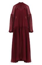 Stella McCartney | Шелковое платье свободного кроя с воротником-стойкой Stella McCartney | Clouty
