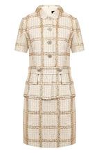 St. John | Вязаное мини-платье с декоративными пуговицами St. John | Clouty