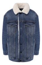Alexander Wang   Джинсовая куртка с меховой отделкой Denim X Alexander Wang   Clouty