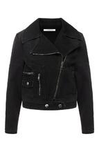 GIVENCHY | Джинсовая куртка с косой молнией Givenchy | Clouty