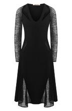 Roberto Cavalli   Приталенное платье с V-образным вырезом Roberto Cavalli   Clouty