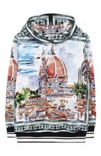 Dolce & Gabbana   Хлопковое худи с принтом Dolce & Gabbana   Clouty