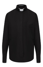 Dolce & Gabbana   Хлопковая блуза с воротником-стойкой Dolce & Gabbana   Clouty