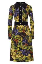 Dolce & Gabbana   Платье-миди из смеси вискозы и хлопка с принтом Dolce & Gabbana   Clouty