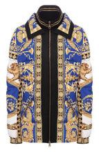 Versace | Стеганая куртка с принтом и воротником-стойкой Versace | Clouty