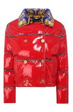 Versace | Двубортная куртка с контрастным воротником Versace | Clouty