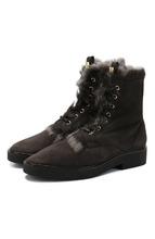 Stuart Weitzman | Высокие замшевые ботинки Jissika с внутренней отделкой из овчины Stuart Weitzman | Clouty