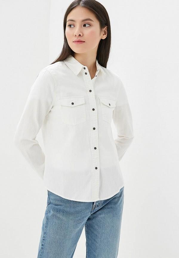 Noisy May   белый Рубашка джинсовая   Clouty