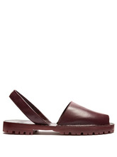 Goya - Leather Slingback Sandals - Womens - Burgundy | Clouty