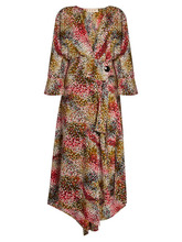 Marni | Marni - Mist Print Silk Crepe Wrap Dress - Womens - Red Print | Clouty