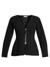Altuzarra | Altuzarra - Campion Zip Up Collarless Jacket - Womens - Black | Clouty