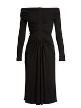 Altuzarra - Imogene Off The Shoulder Jersey Dress - Womens - Black   Clouty